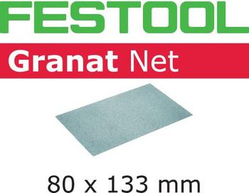 Festool Granat Net   80 x 133   80 Grit   Pack of 50 (203285)