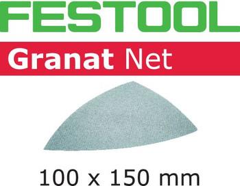 Festool Granat Net   Delta   100 Grit   Pack of 50 (203321)