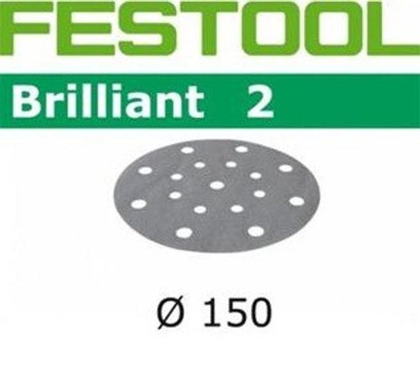 Festool Brilliant 2 | 150 Round | 40 Grit | Pack of 10 (496579)