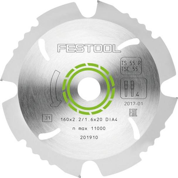 Festool Diamond Saw Blade - Cement Board TS 55 (202958)