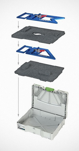 TSO GRS-16 Guide Rail Square w/ Systainer and Foam Insert (GRS-16-KITWSYS)