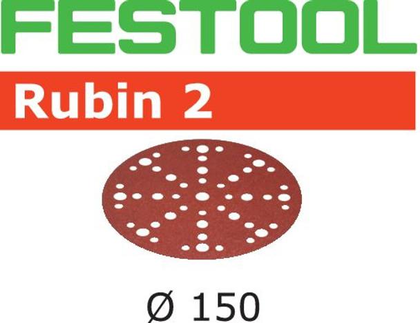 Festool Rubin 2 | 150 Round | 220 Grit | Pack of 50 | Multi-Jetstream 2 (575193)