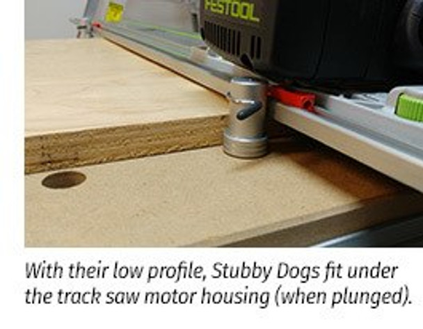 TSO DoubleGroove™ 20mm Bench Dogs - Stubby Pair (61-408)