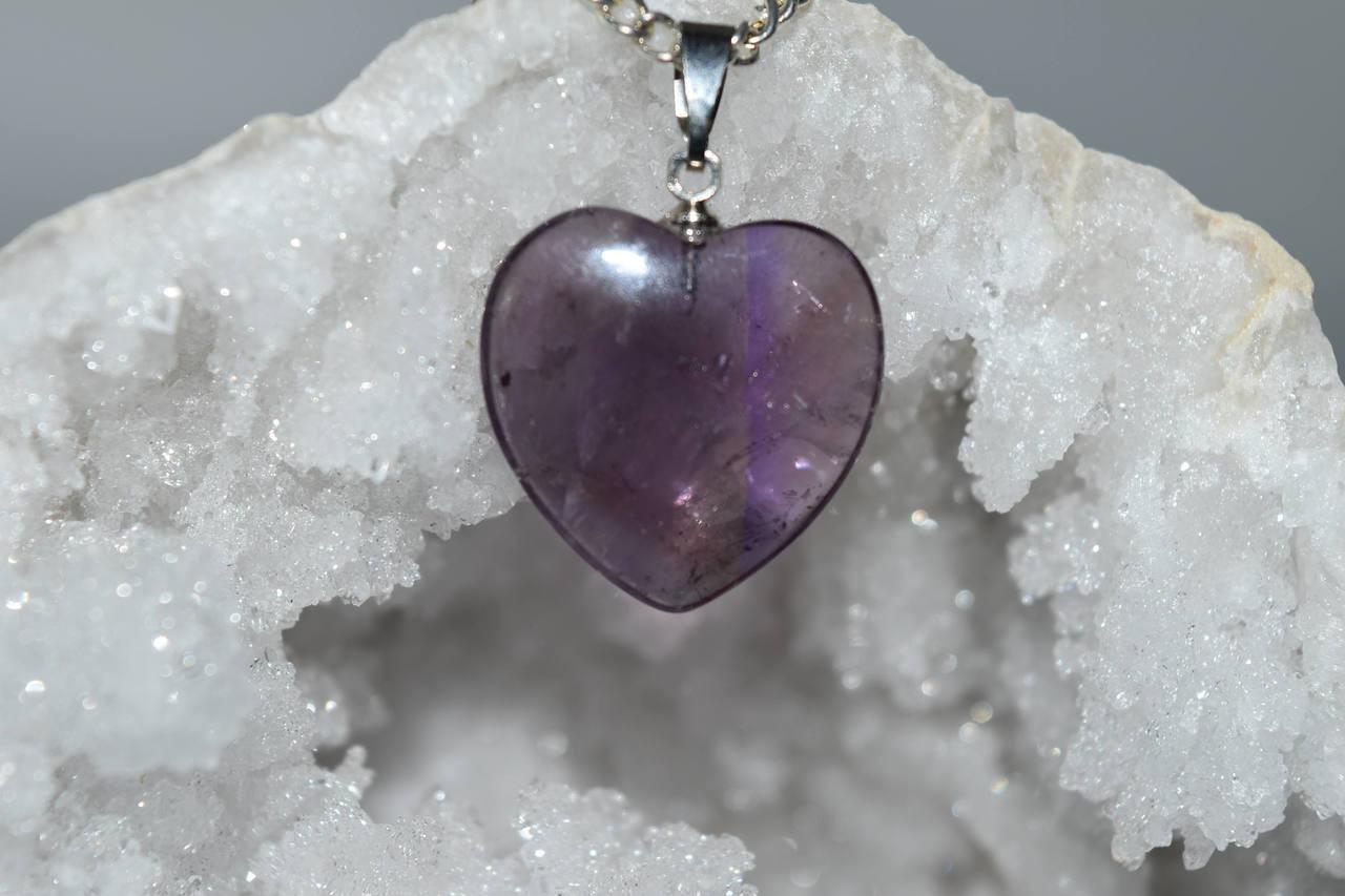 Heart amethyst crystal pendant reiki healing meditation crystal heart amethyst crystal pendant reiki healing meditation crystal grid pagan aloadofball Gallery