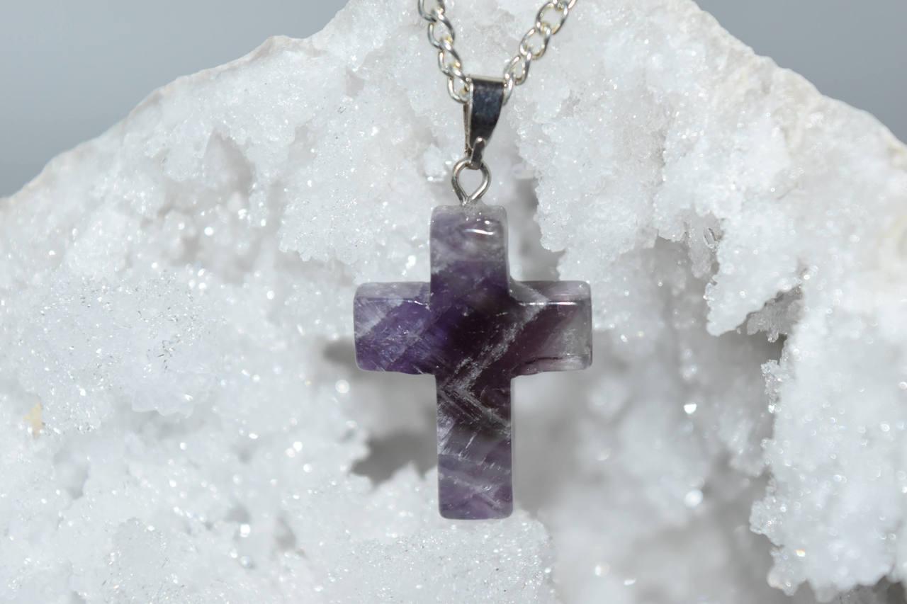 Cross amethyst crystal pendant reiki healing meditation crystal cross amethyst crystal pendant reiki healing meditation crystal grid pagan aloadofball Gallery
