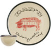 """Personalized 16"""" Round Dad's World Famous BBQ Platter with Bowl Set"""