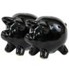Black Pig Salt & Pepper Shakers