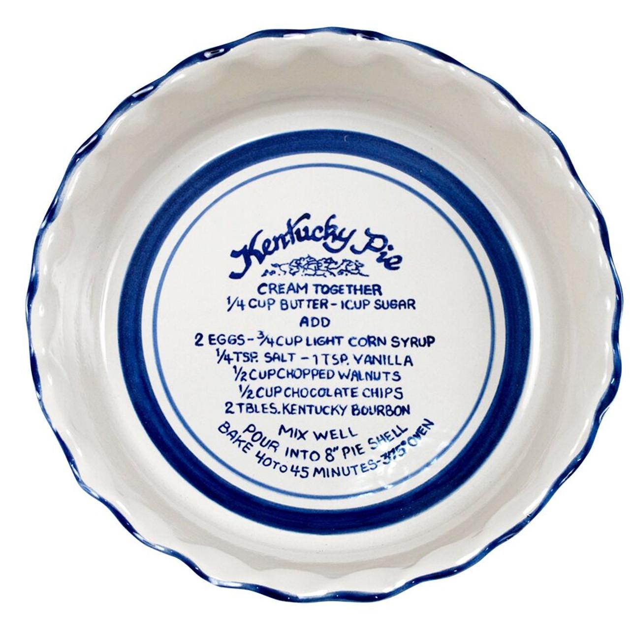 Kentucky Pie Pinched Rim Pie Plate  sc 1 st  Louisville Stoneware & Kentucky Pie Thumb Print Pie Plate - Stoneware \u0026 Co.