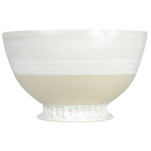 """14"""" Champagne Bowl  in White - Louisville Pottery Collection"""