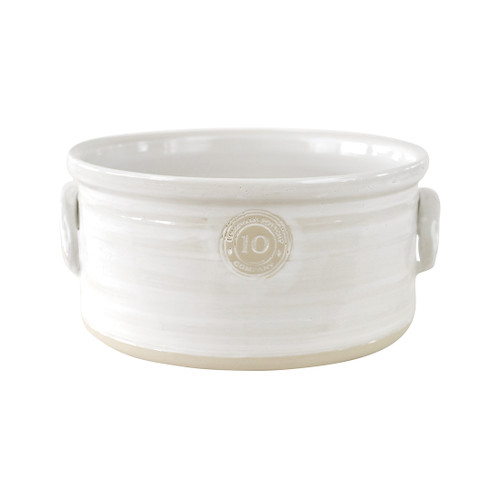 "10"" Cake Crock in White- Louisville Pottery Collection"