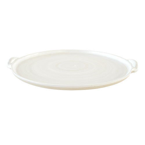 "14"" Round Handle Tray - Louisville Pottery Collection White"