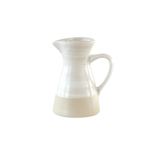 8oz Pitcher Louisville Pottery Collection White