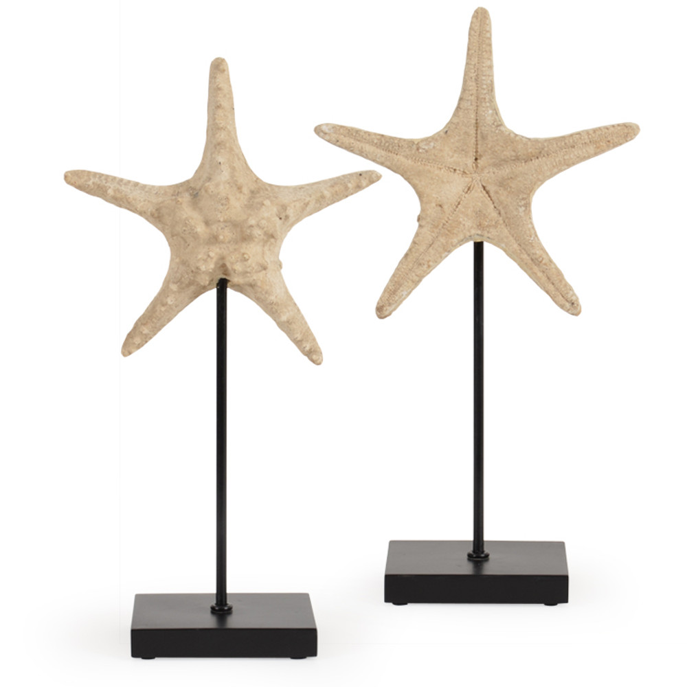 OUT-AS-950L Large Resin Starfish on Aluminum Stand