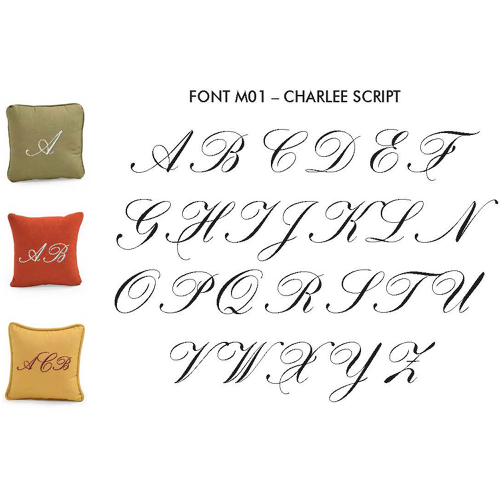 Monogram Toss Pillows