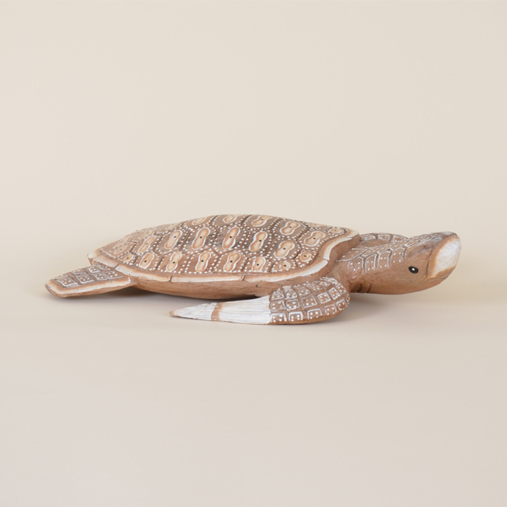 07-020,A7  Wooden Sea Turtle