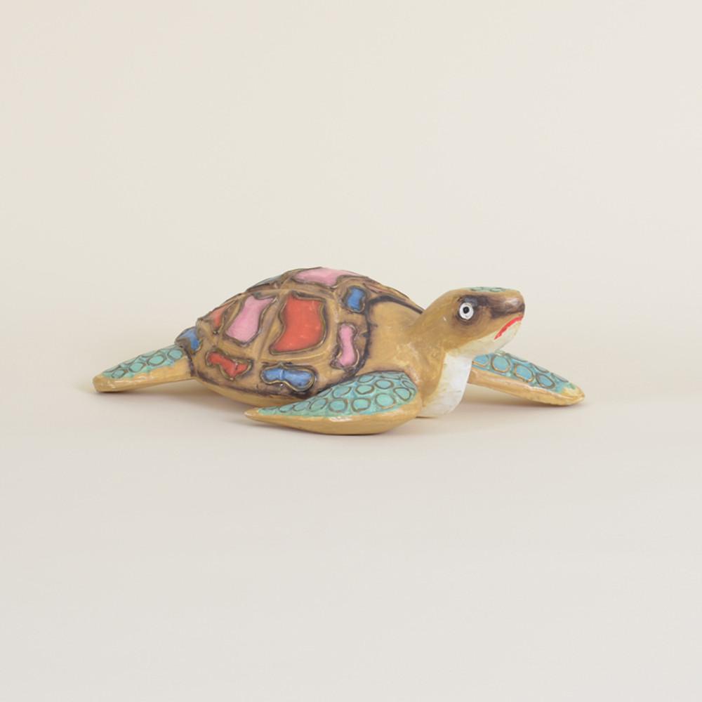 04-97 Small Wooden Sea Turtle
