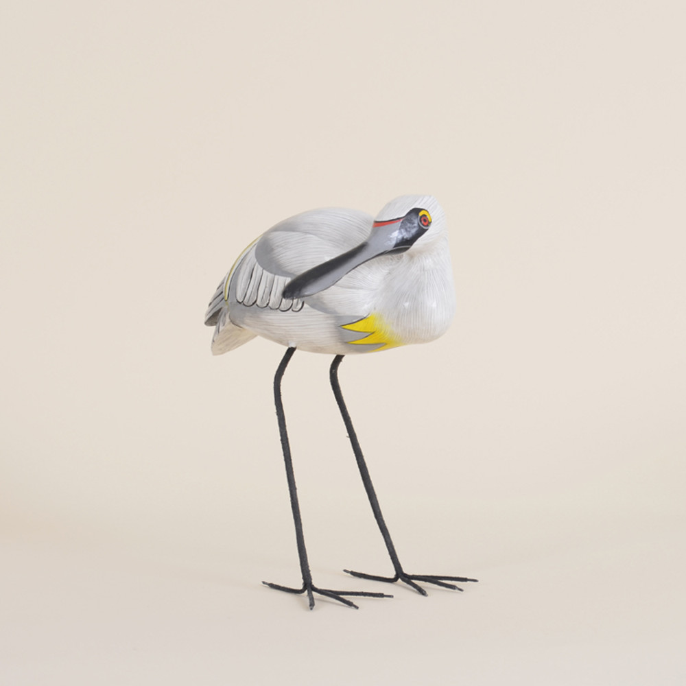 09-261  Wooden Spoon Bill Bird