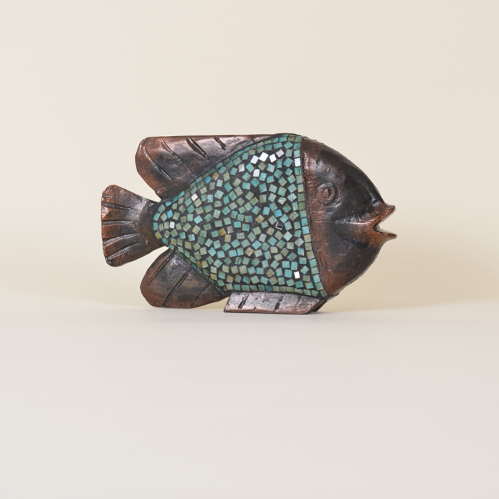 11-073 Wooden Mosaic Fish