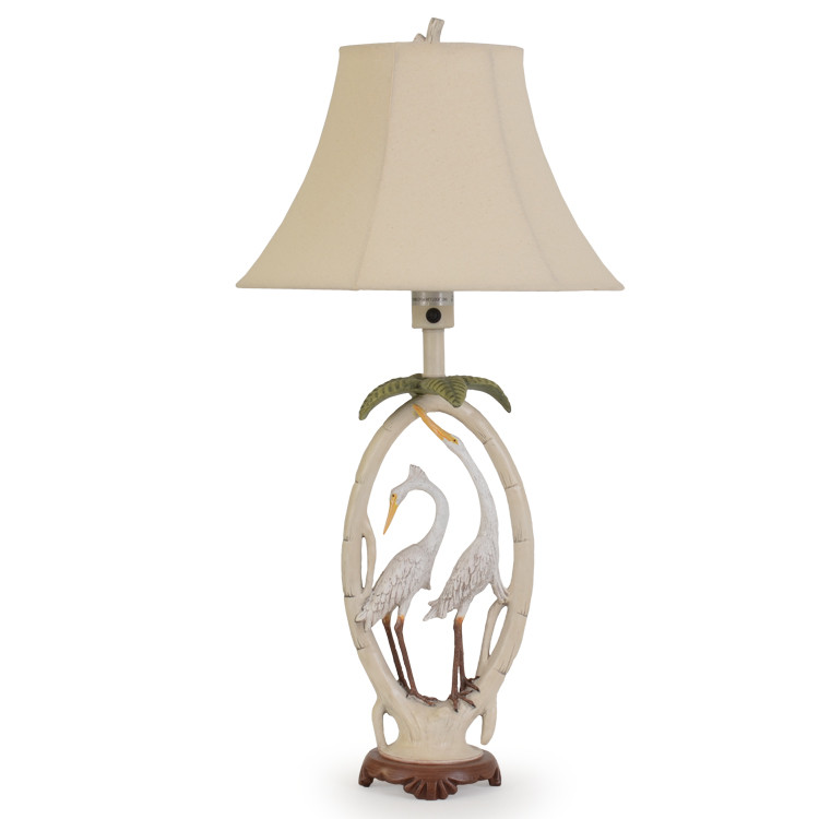 OUT-611TL Double Egret Outdoor Table Lamp