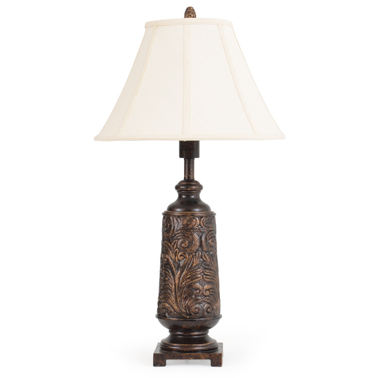 OUT-711TL Tooled Leather Table Lamp