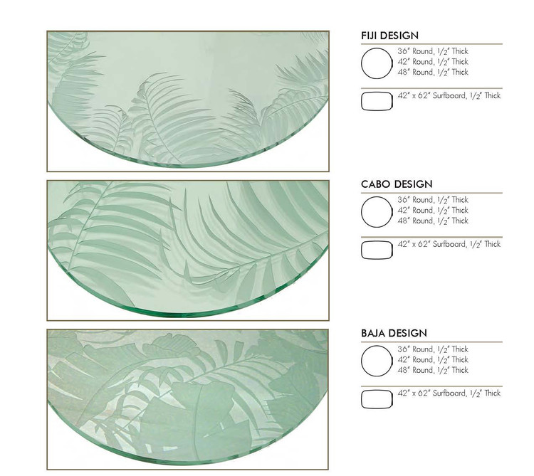 Carved Glass Tops