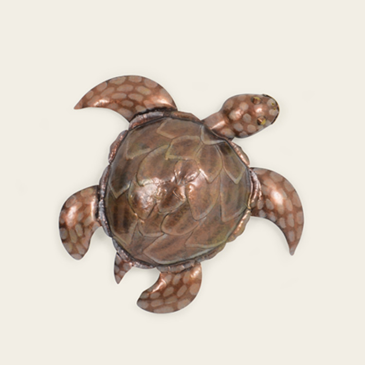 16-005  Small Metal Sea Turtle Wall Hanging