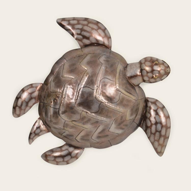16-004  Large Metal Sea Turtle Wall Hanging