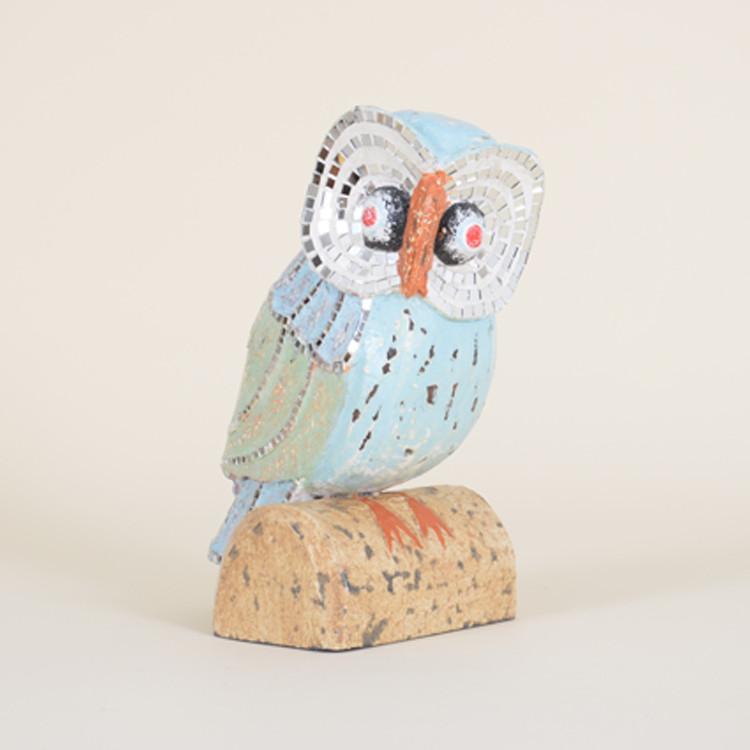 16-020 Wooden Mosaic Owl