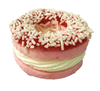 Strawberry Frozen Donut with Vanilla Center