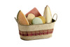 Assorted Fruit Sorbet Shells, made with real fruit! Basket pictured is not included