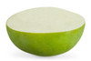 Green Apple Sorbet Half, made with real fruit, served in it's original fruit shell!