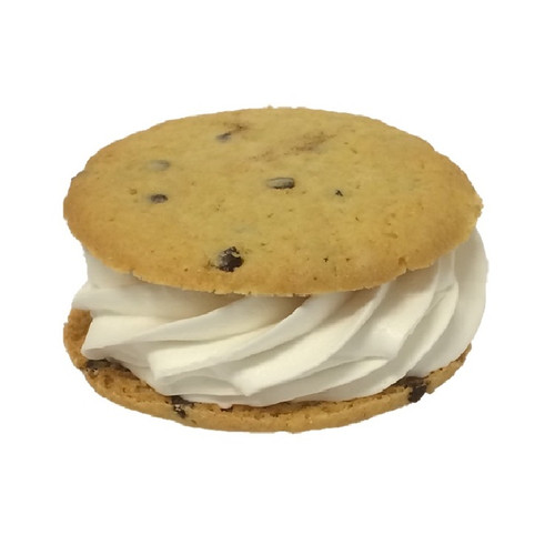 Jumbo Cookie Sandwich made with chewy chocolate chip cookies and non-dairy vanilla frozen dessert