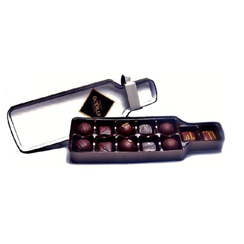 Wine Bottle shaped Chocolate Gift Box holding 15 Truffles