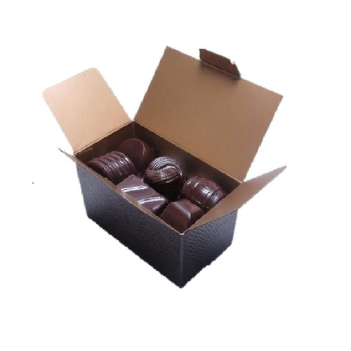 Open Ballotin Box containing 12 assorted Chocolate Jewels