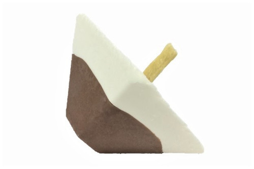 Large Two Tone Frozen Chocolate and Vanilla Dreidel with Cookie Stick!