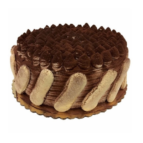 "10"" Tiramisu Cake decorated with lady fingers"