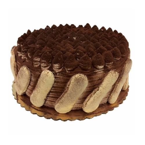 """10"""" Tiramisu Cake decorated with lady fingers"""
