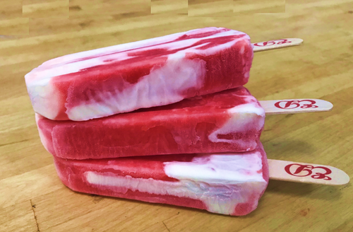 JUMBO Creamsicle Pop  with refreshing pomegranate sorbet and creamy ice cream!