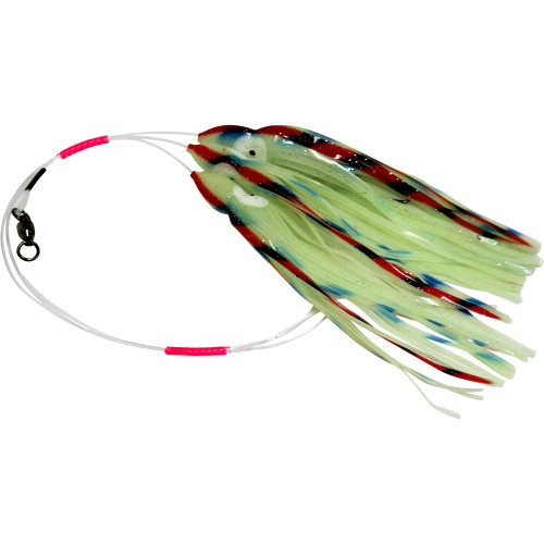 Daisy Chain Leader - Glow in Dark Green with Red and Blue Stripe