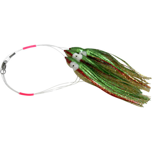 Daisy Chain Leader - Green & Gold Extreme Sparkle with Red Stripe