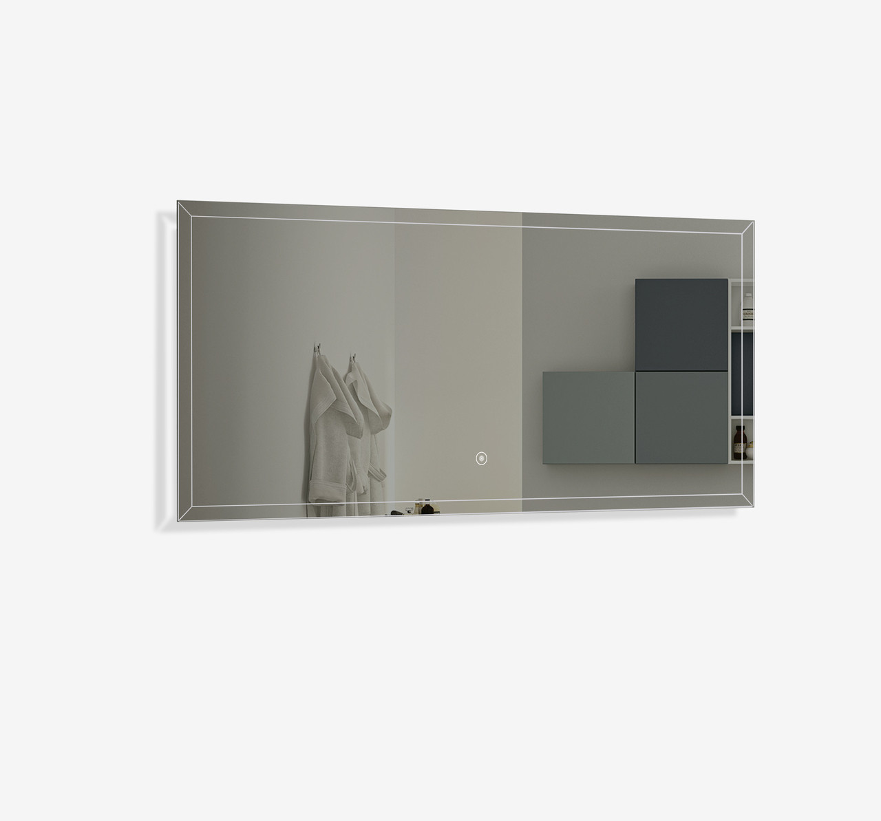 FERO 48 INCH WALL MOUNTED BATHROOM MIRROR WITH LED LIGHT - Bathroom ...