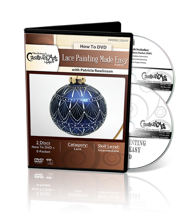 Lace Painting Made Easy DVD & Pattern Packet - Patricia Rawlinson