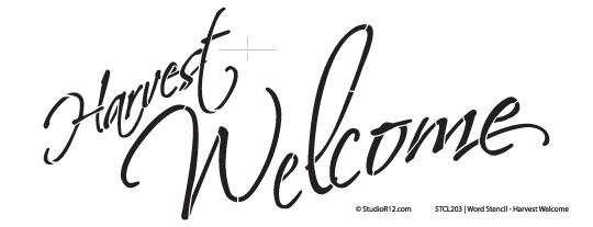 Word Stencil - Welcome Harvest