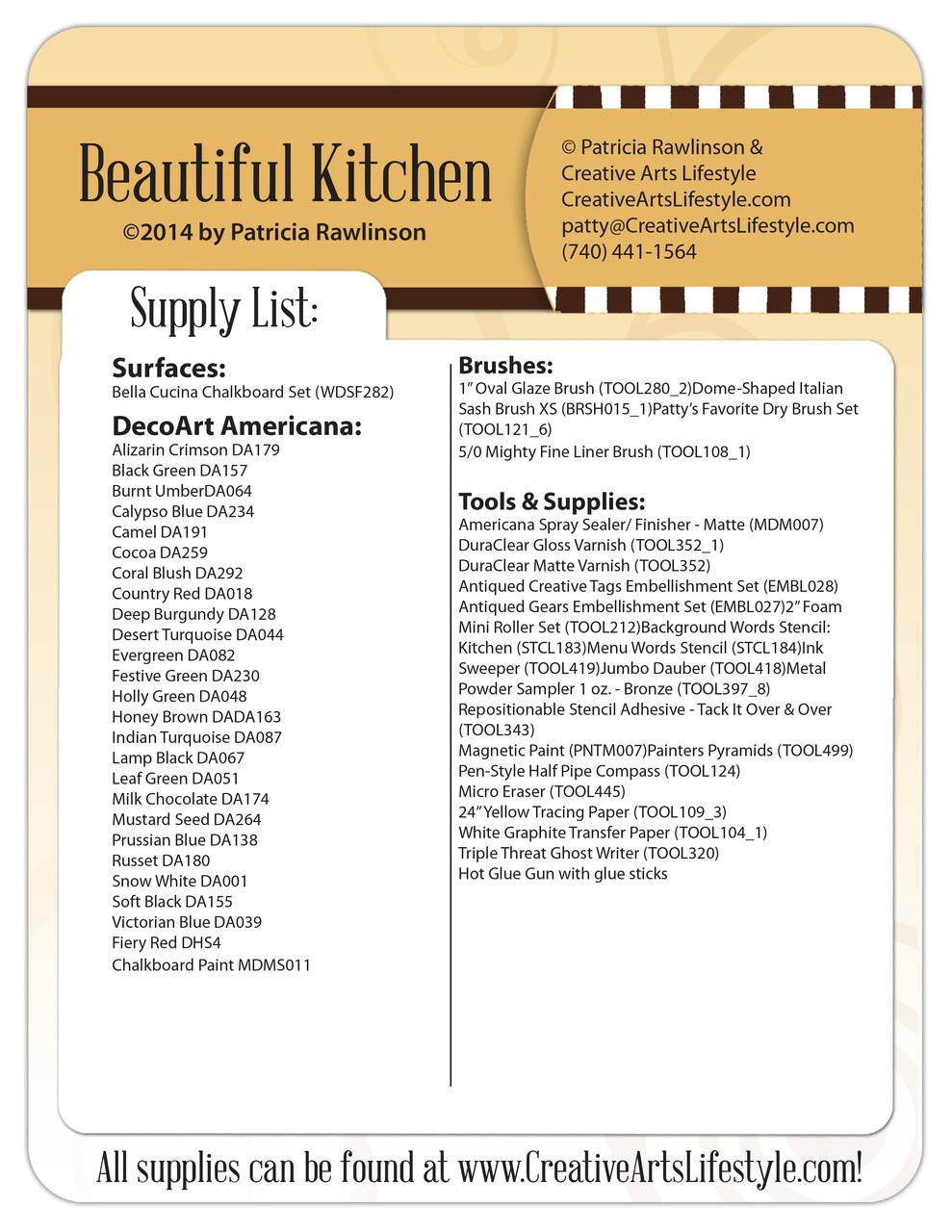 Beautiful Kitchen DVD & Pattern Packet - Patricia Rawlinson