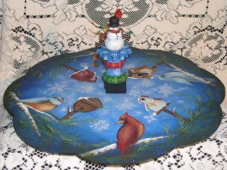 Sno Birds Lazy Susan packet - Patricia Rawlinson