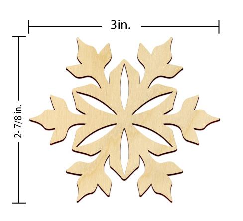 Snowflake Embellishment - 3 in.