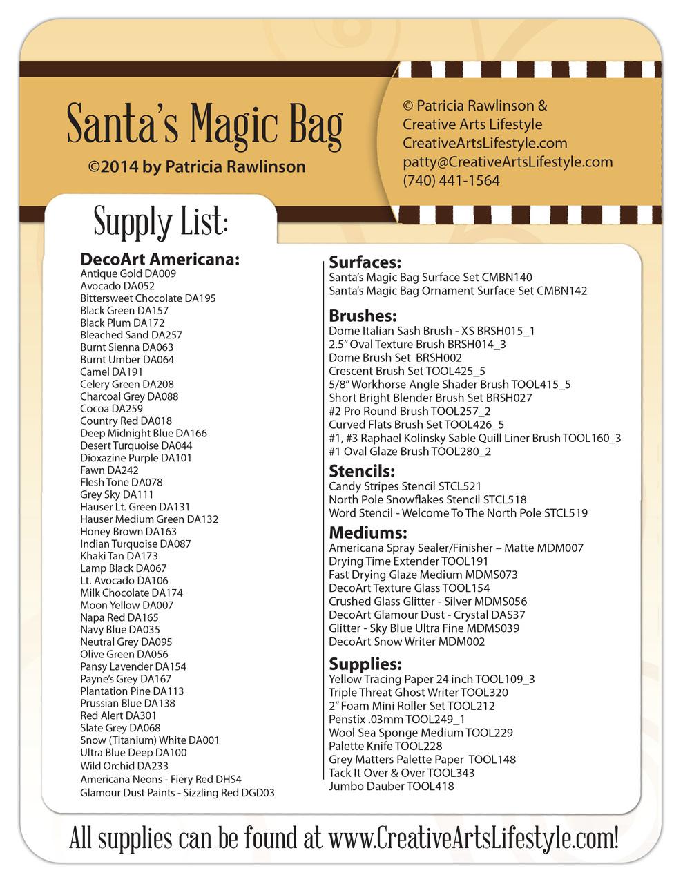 Santa's Magic Bag E-packet - Patricia Rawlinson