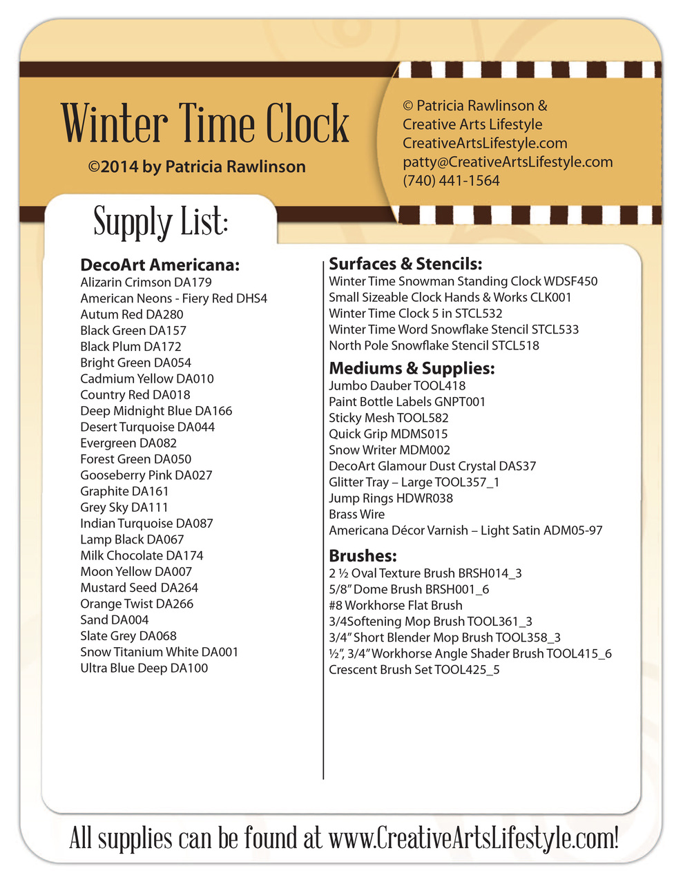 Winter Time Snowman Standing Clock Pattern Packet - Patricia Rawlinson