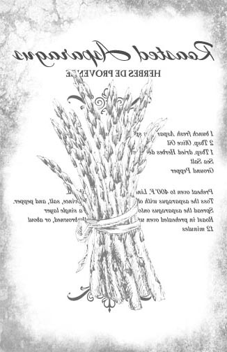 Roasted Asparagus Recipe - B&W Aged 10x16-Image Transfers