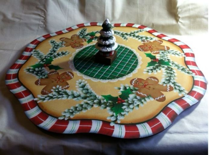 Gingerbread Man Lazy Susan - E-Packet - Vera Collier